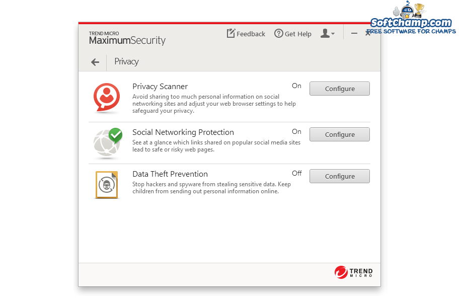 Trend Micro Maximum Security Privacy