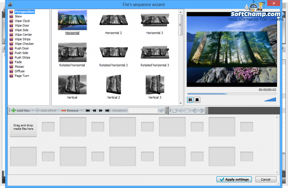 VSDC Free Video Editor File sequence wizard