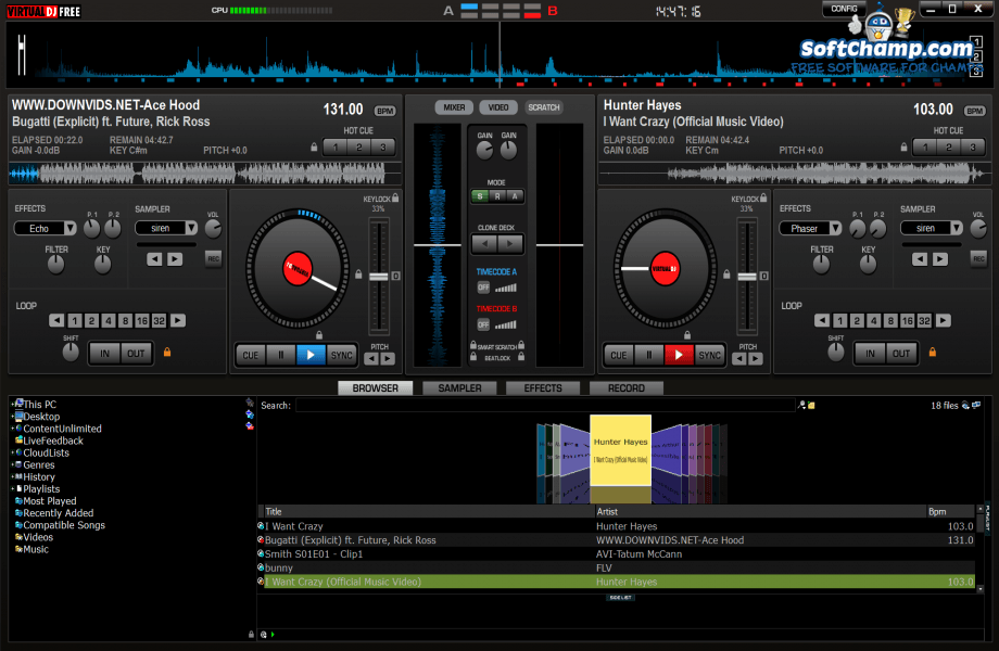 Virtual DJ Home FREE Decks