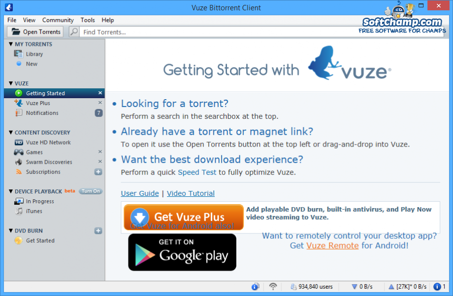 Vuze Getting Started with Vuze