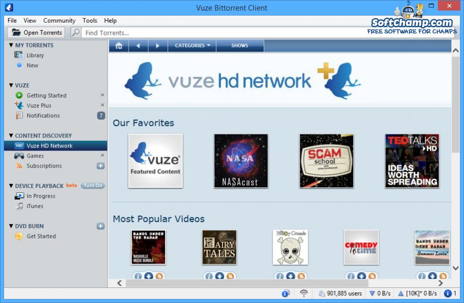 Vuze HD Network