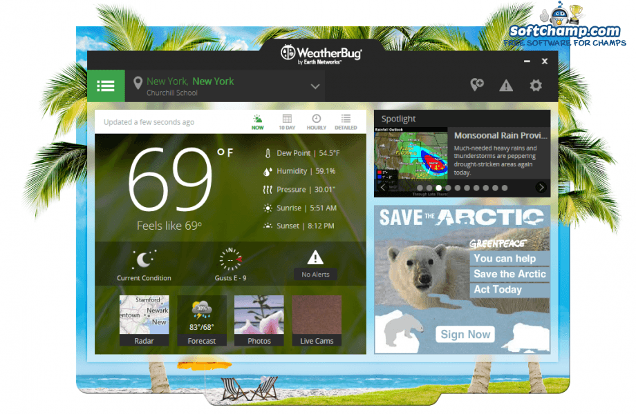 WeatherBug Brief Weather Forecast