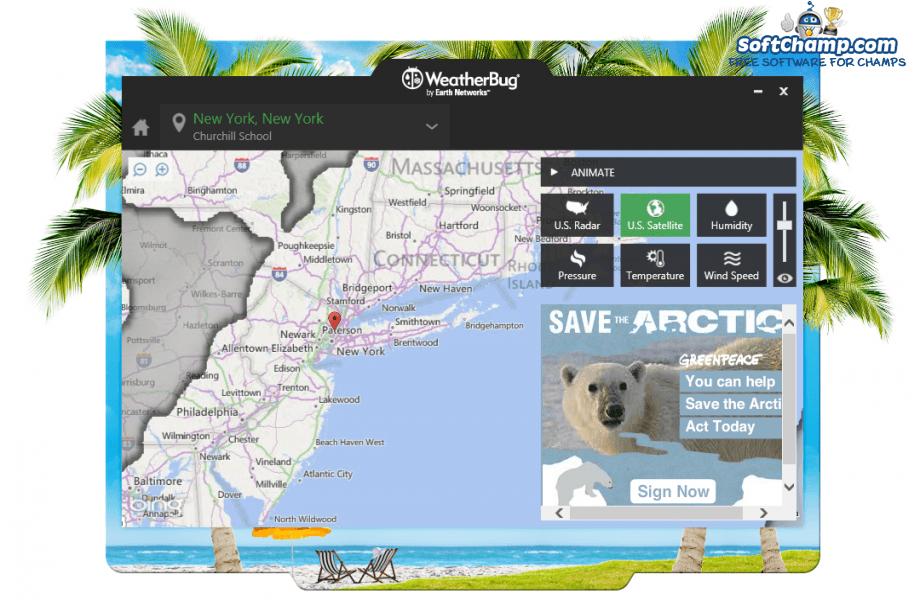 WeatherBug Map Satellite