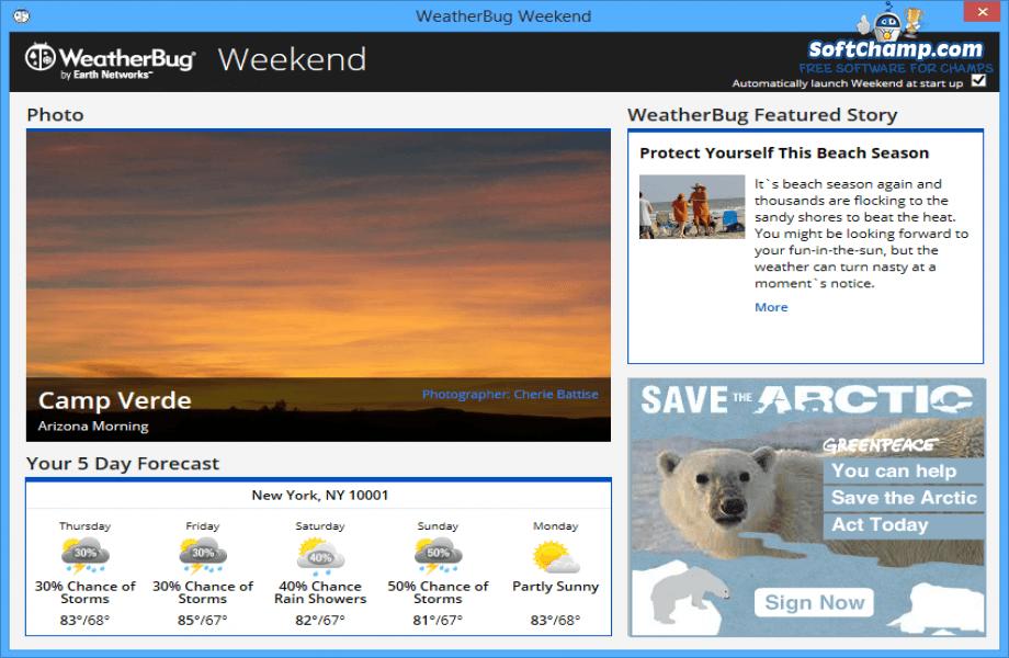 WeatherBug Weekend