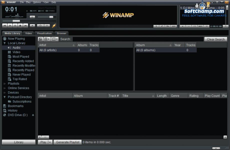 Winamp Track Playback