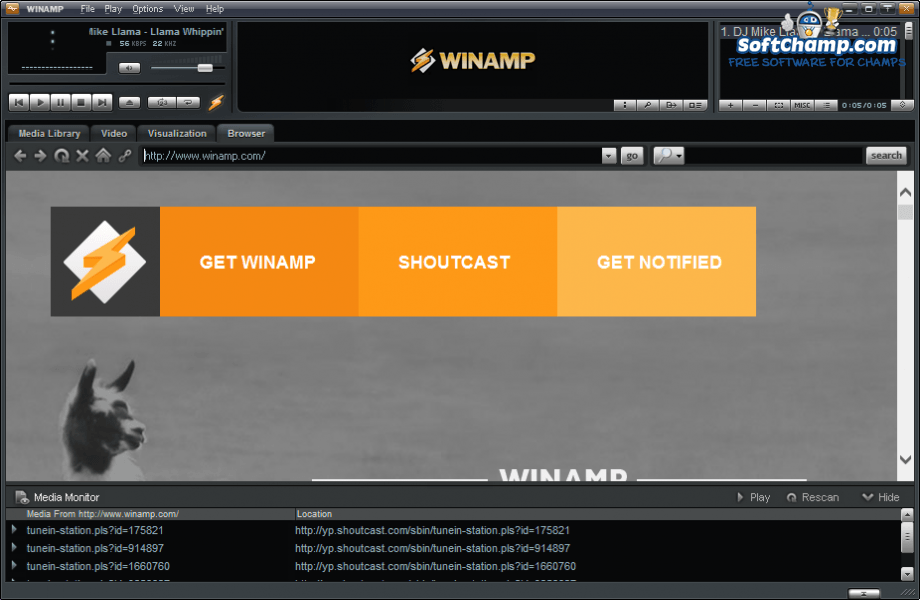 Winamp Web Browser