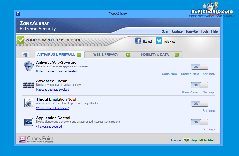 ZoneAlarm Extreme Security Antivirus and Firewall