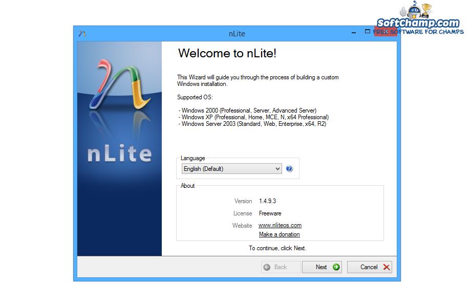 nLite Choose language
