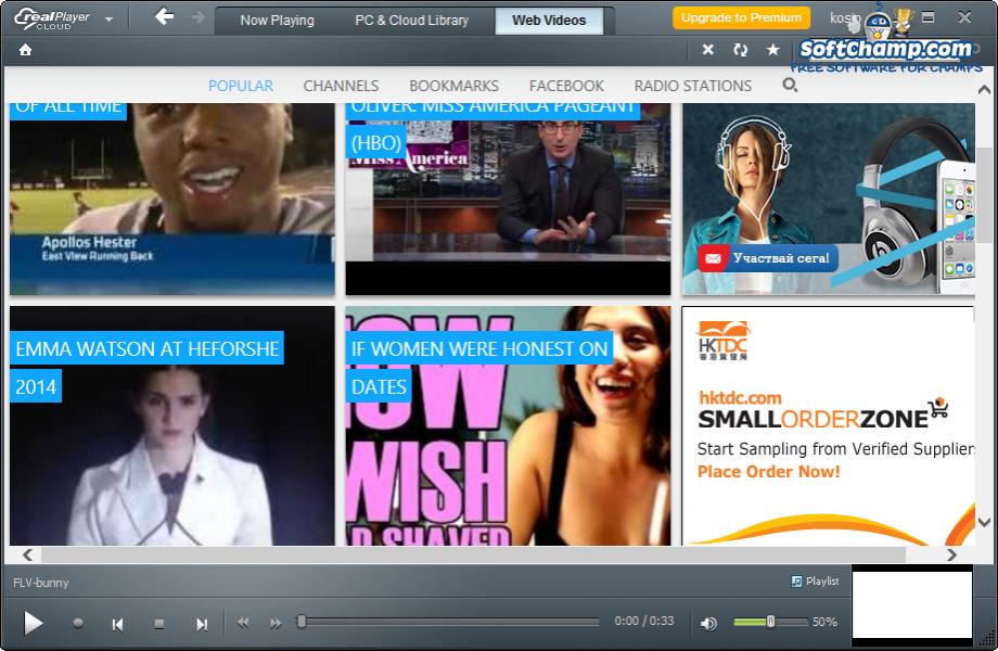 realPlayer Cloud Web Videos